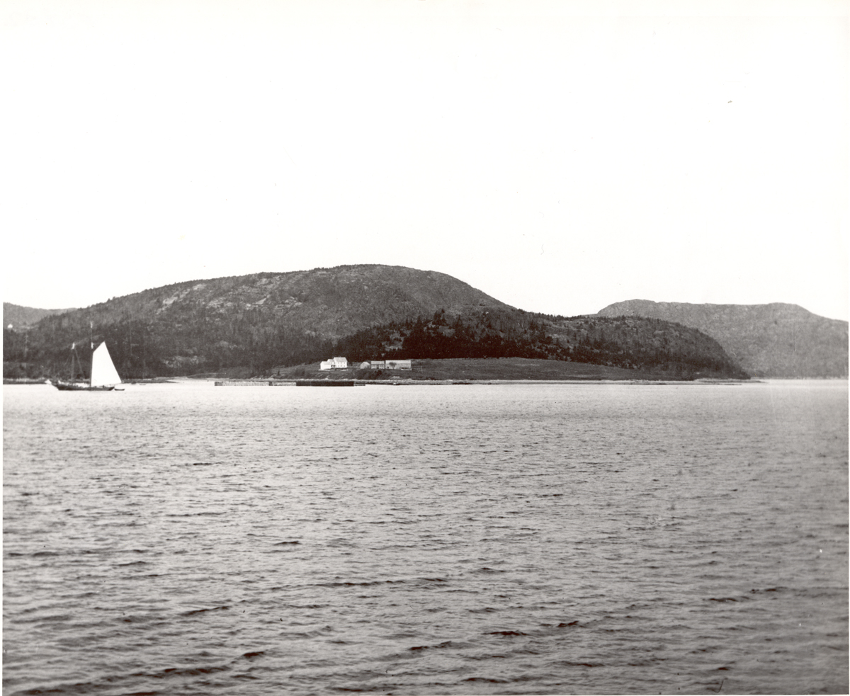 Fernald Point with Dog (St. Sauveur), Flying, and Robinson (Acadia) Mountains