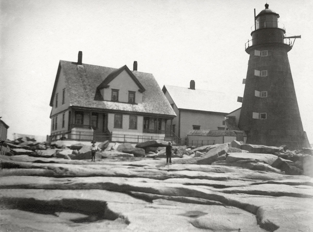 Mount Desert Rock Light Station - Lighthouse and Buildings - Before 1918