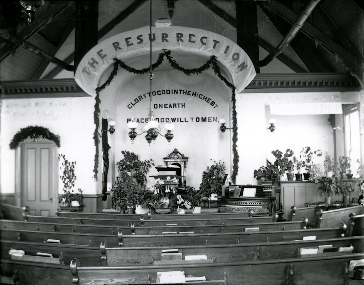Tremont Congregational Church Decorated for Easter