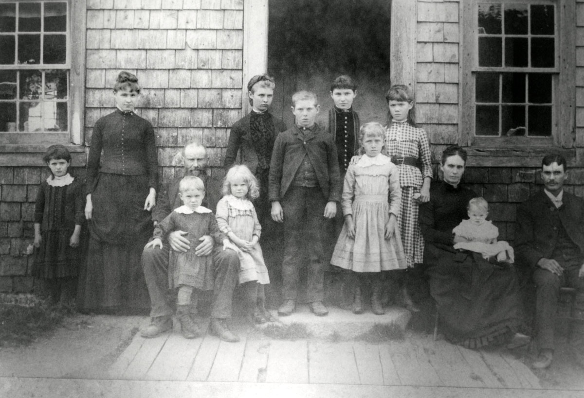 The Mountain House - Jacob and Rebecca Carroll and their Children, Southwest Harbor
