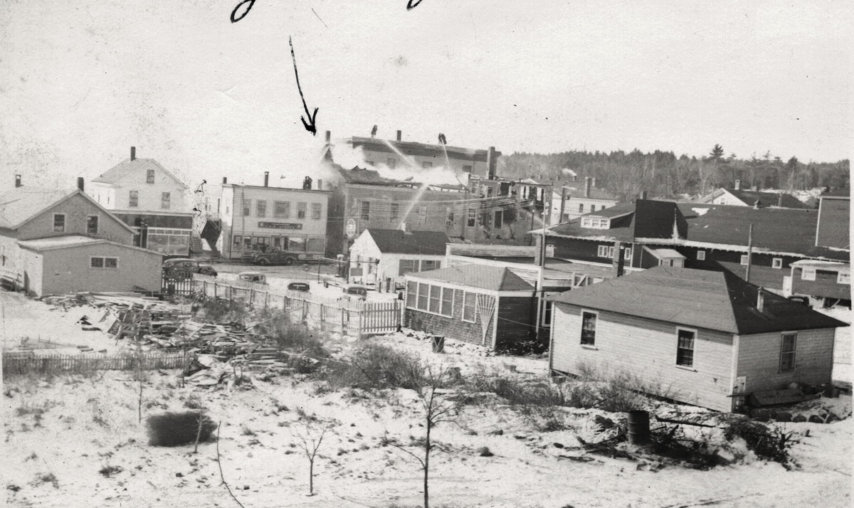 Fire at the Second Masonic Hall, Southwest Harbor