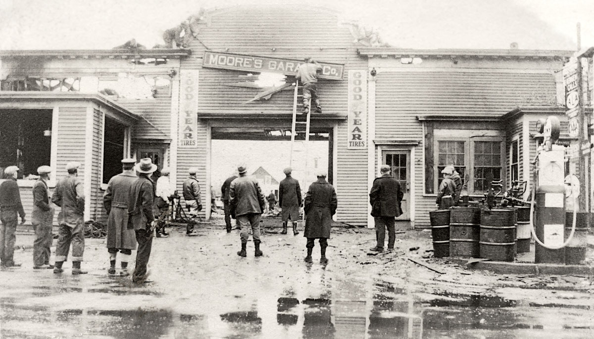 Moore's Garage Co. - After the Fire