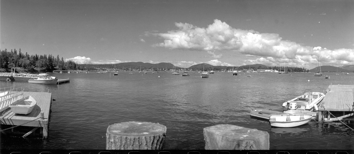 Panorama of Southwest Harbor from Manset Town Dock