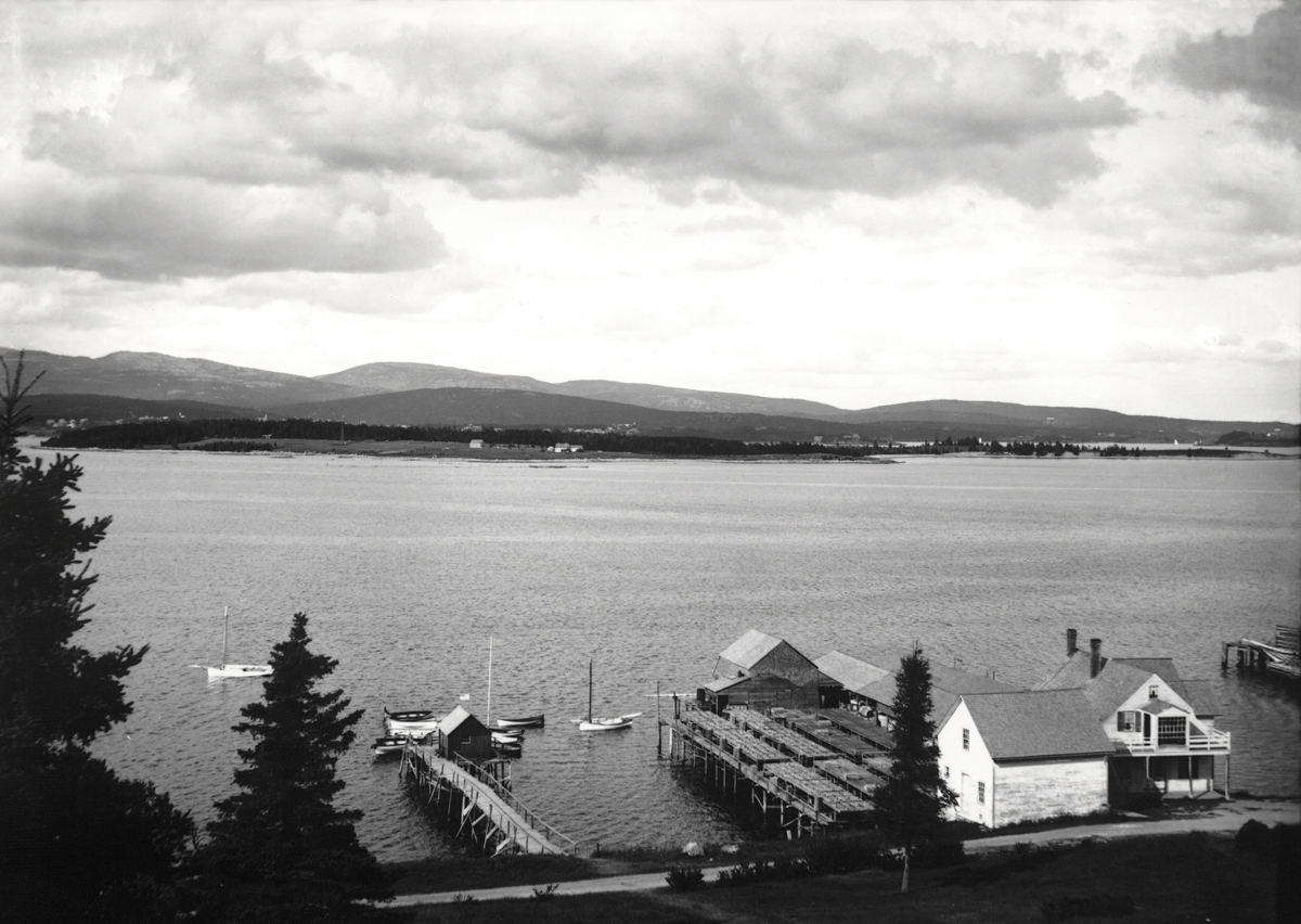 View of Southwest Harbor from the Ocean House in Manset