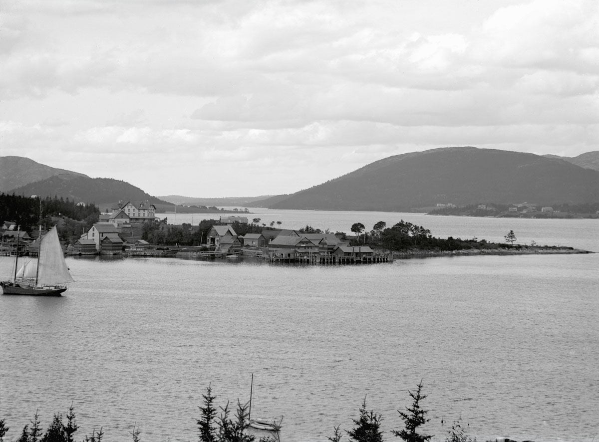 Clark Point from Manset Looking North up Somes Sound