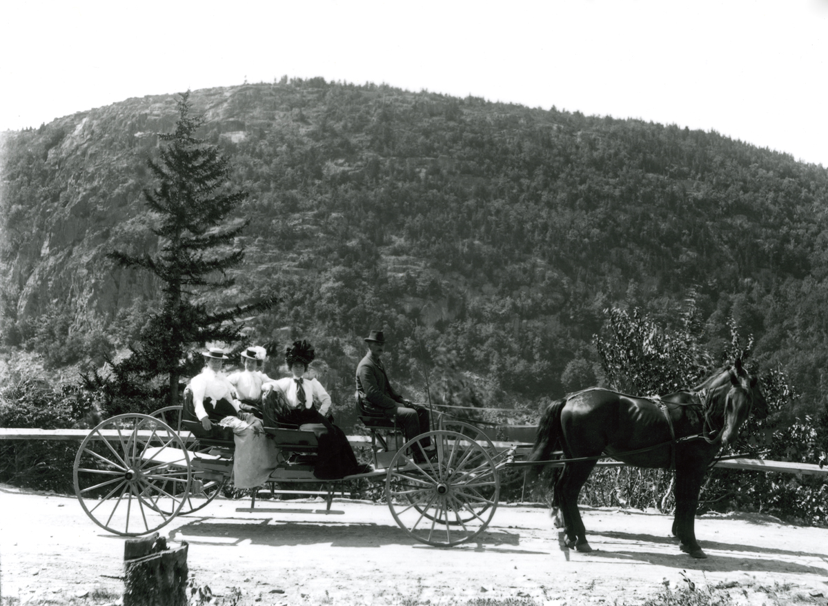 A Buckboarding Party at the Bluffs - Echo Lake
