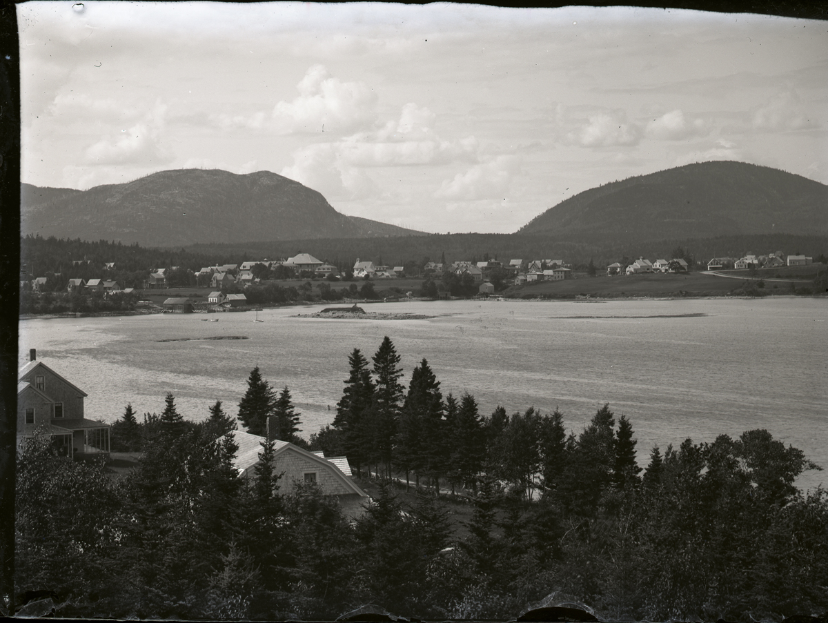 View from Manset to Clark Point Across Little Island and Black's Ledge
