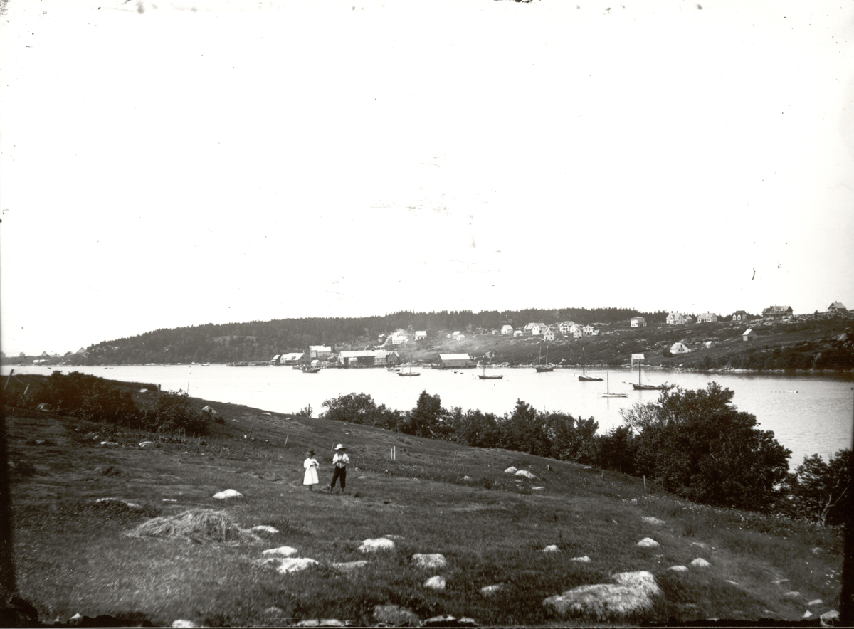 Lunt's Harbor and Two Children, Frenchboro