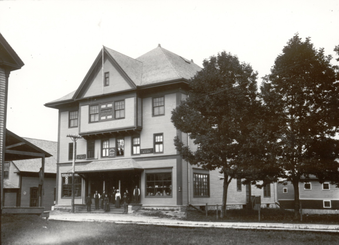 Men and Women at the First Odd Fellows Building, Southwest Harbor, Maine