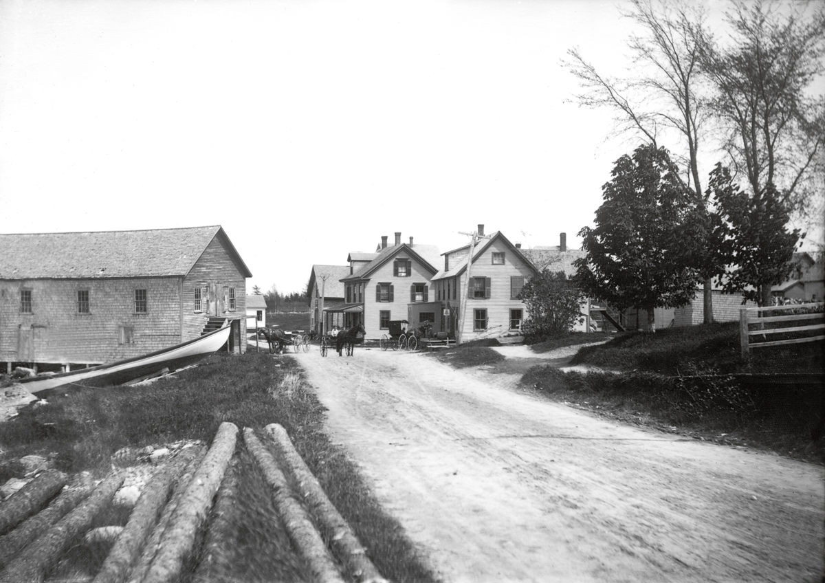 Buildings on the Shore Road in Manset