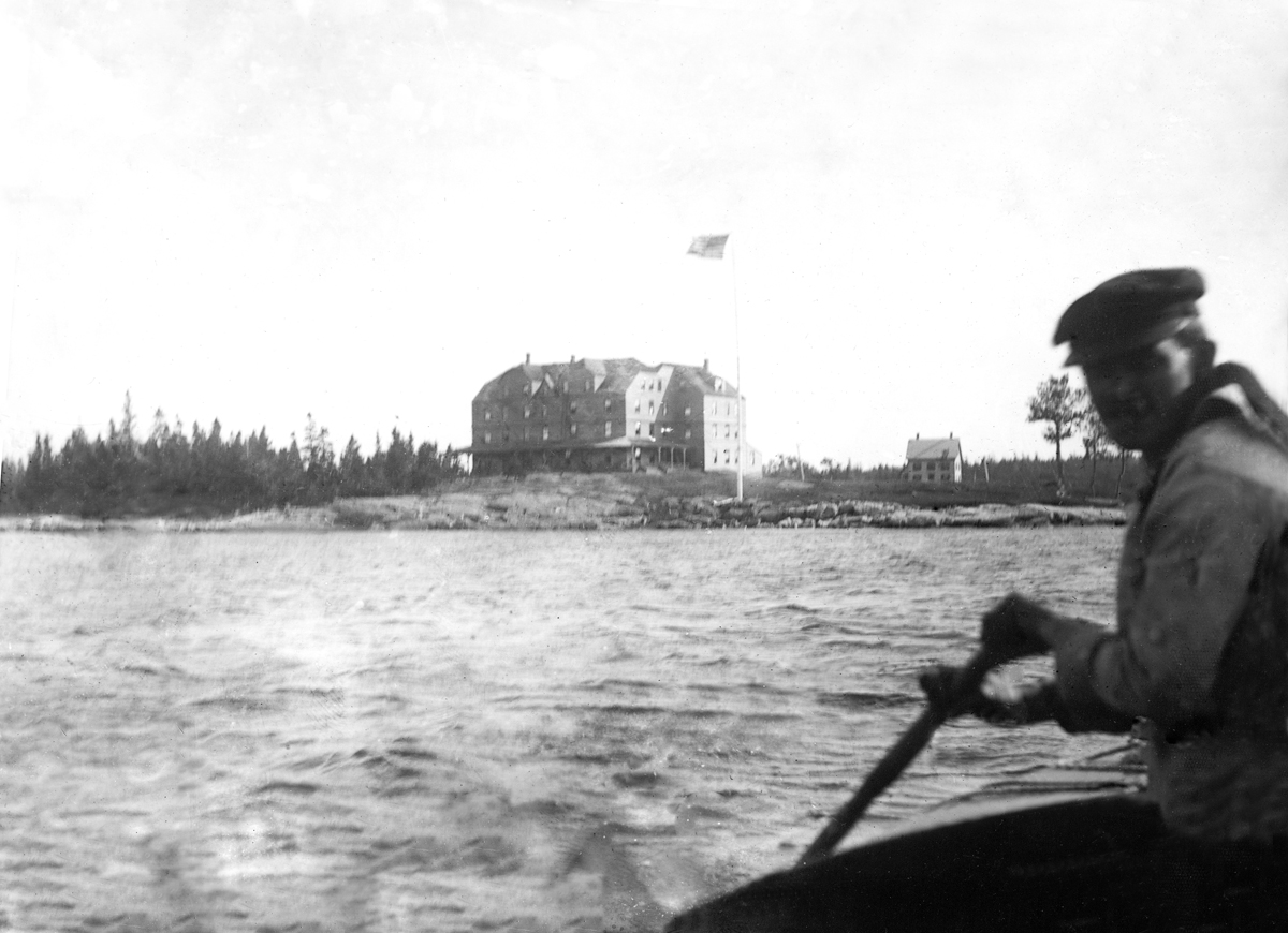 The Stanley House - 1900 Circa - Enlarged, from a Boat