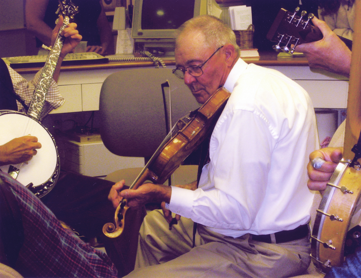 Ralph Warren Stanley Playing his Spurling Violin at the Library