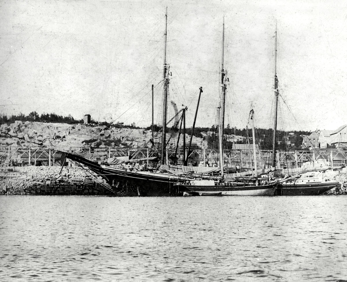 Isabel B. Wiley and the Bloomer Loading Granite at Hall Quarry - After 1906