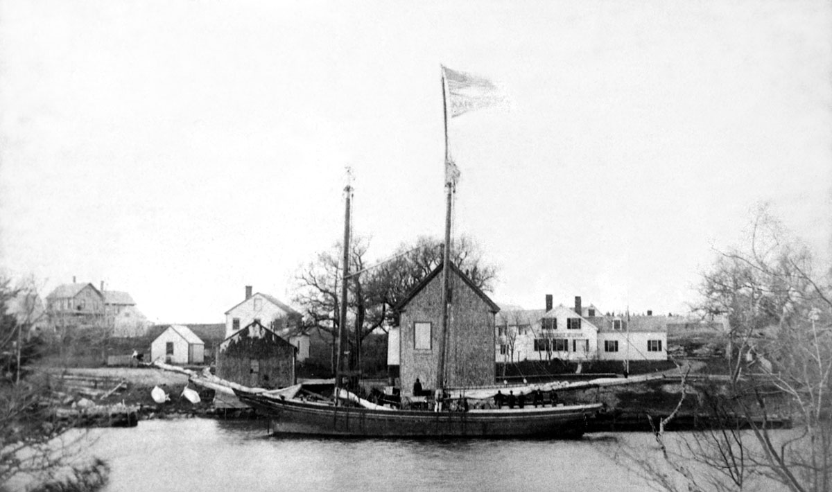 Schooner Kate L. Pray at the Fernald Brothers Store Wharf in Somesville