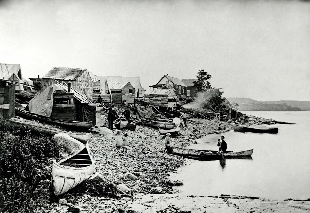 """Native American Camp at Bar Harbor - """"Indian Village"""" First Location"""