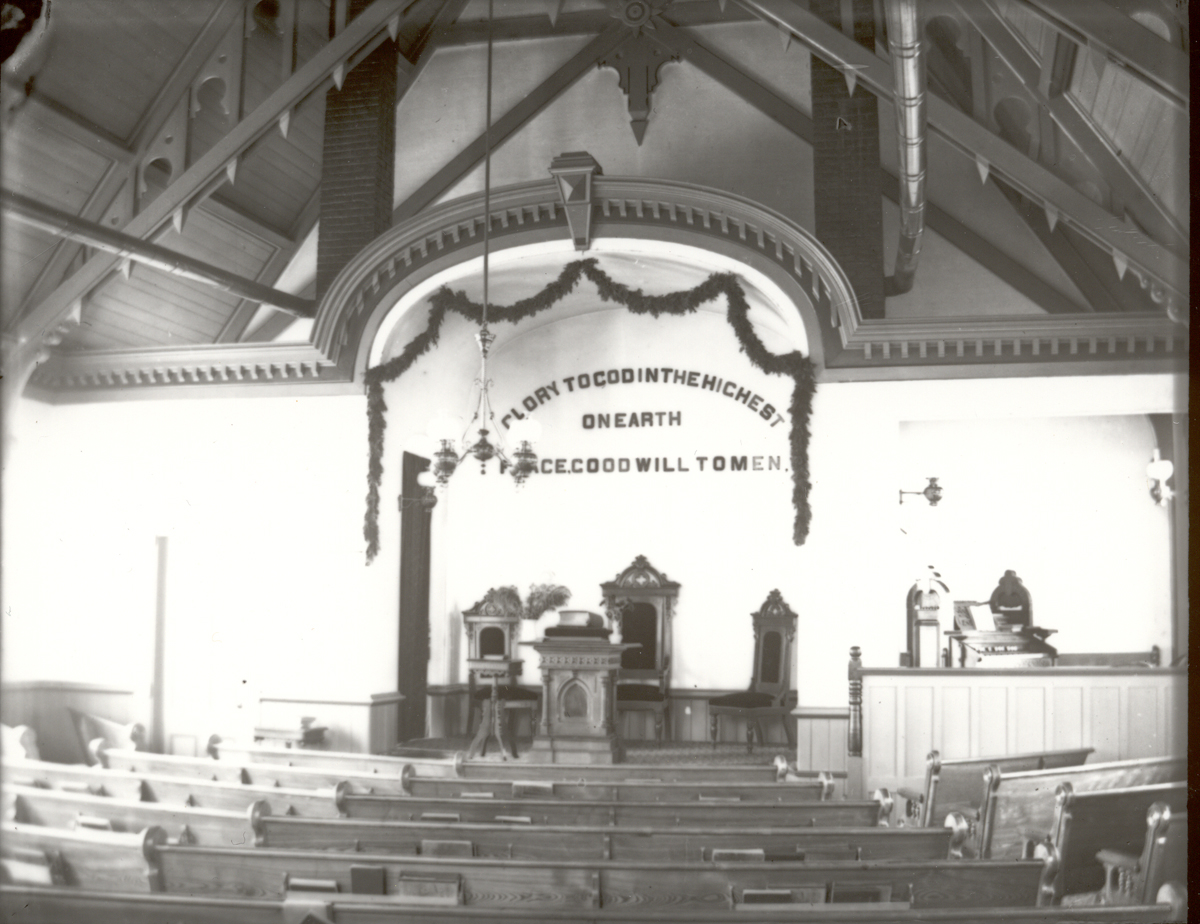 Tremont Congregational Church at Christmas