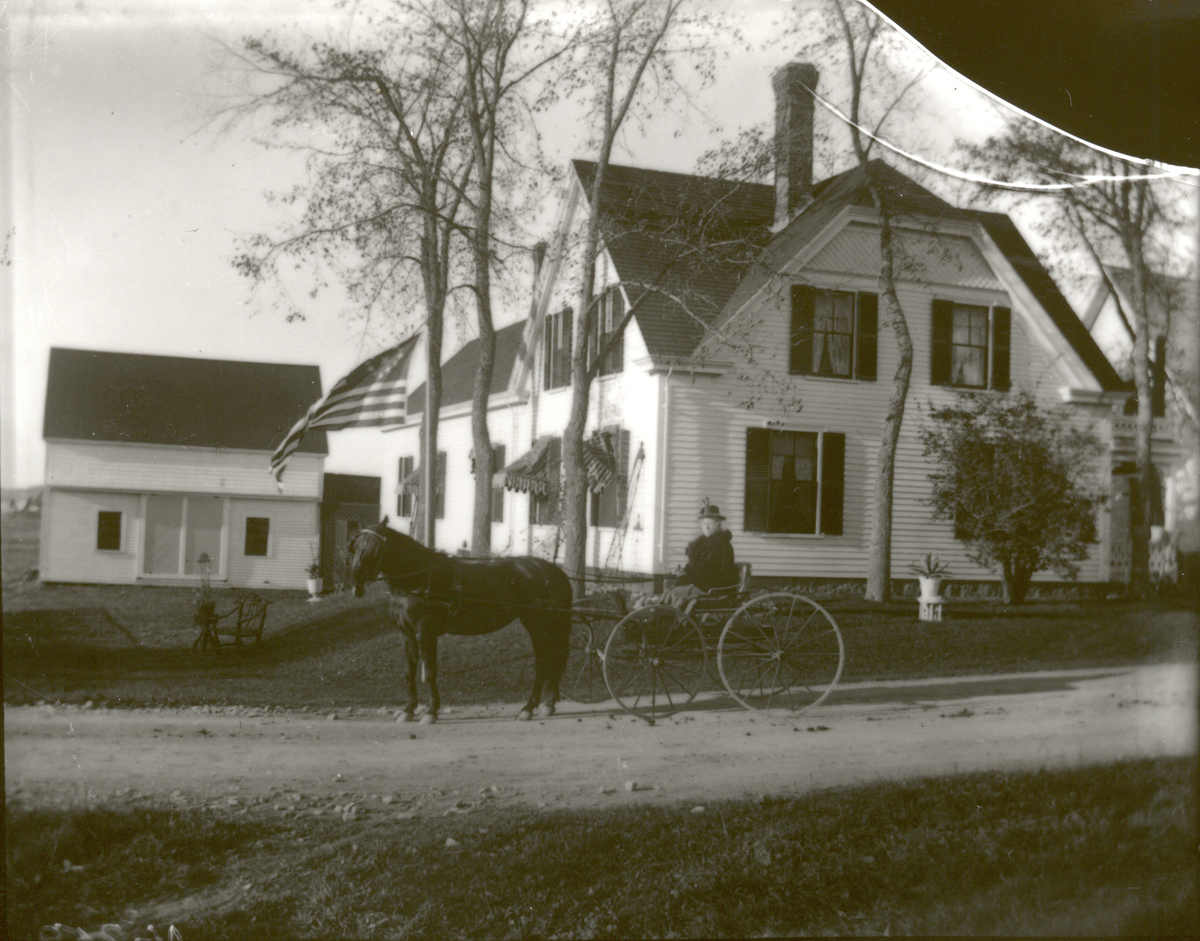Pembroke House with Woman in Carriage