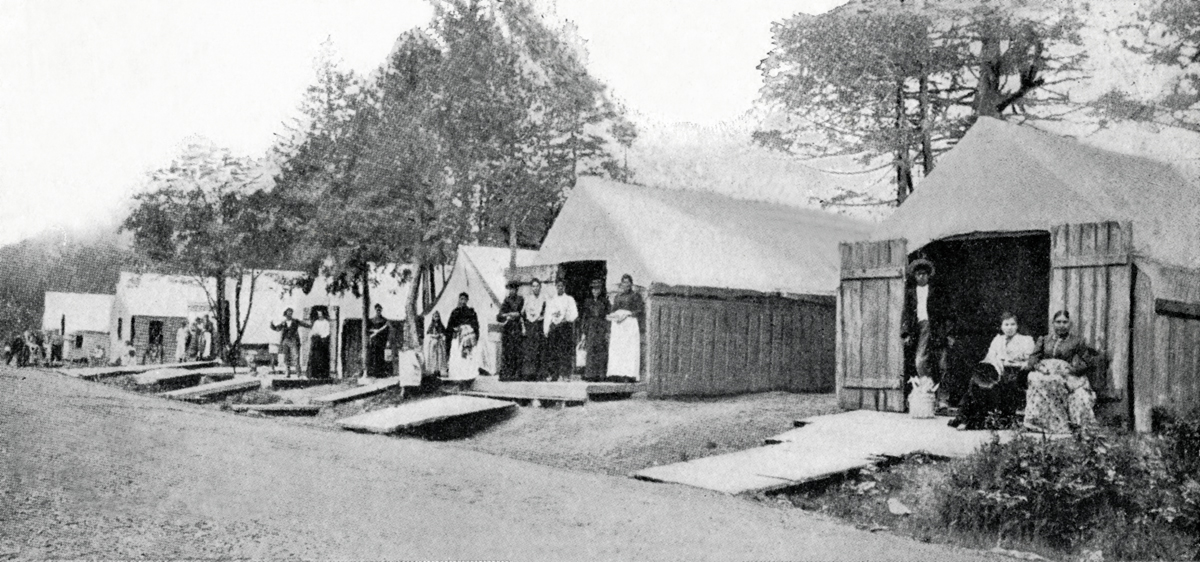 """Native American Camp at Bar Harbor - """"Indian Village"""" Second Location"""