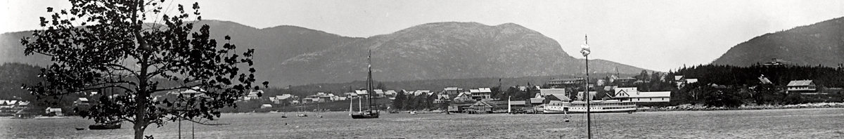 Steamer Sappho at Steamboat Wharf in Southwest Harbor - Between 1886 and 1911