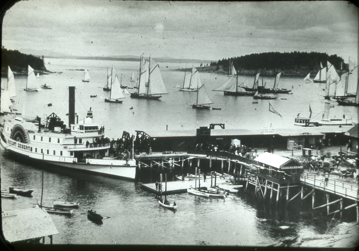 Bar Harbor Wharf and Steamer Mount Desert