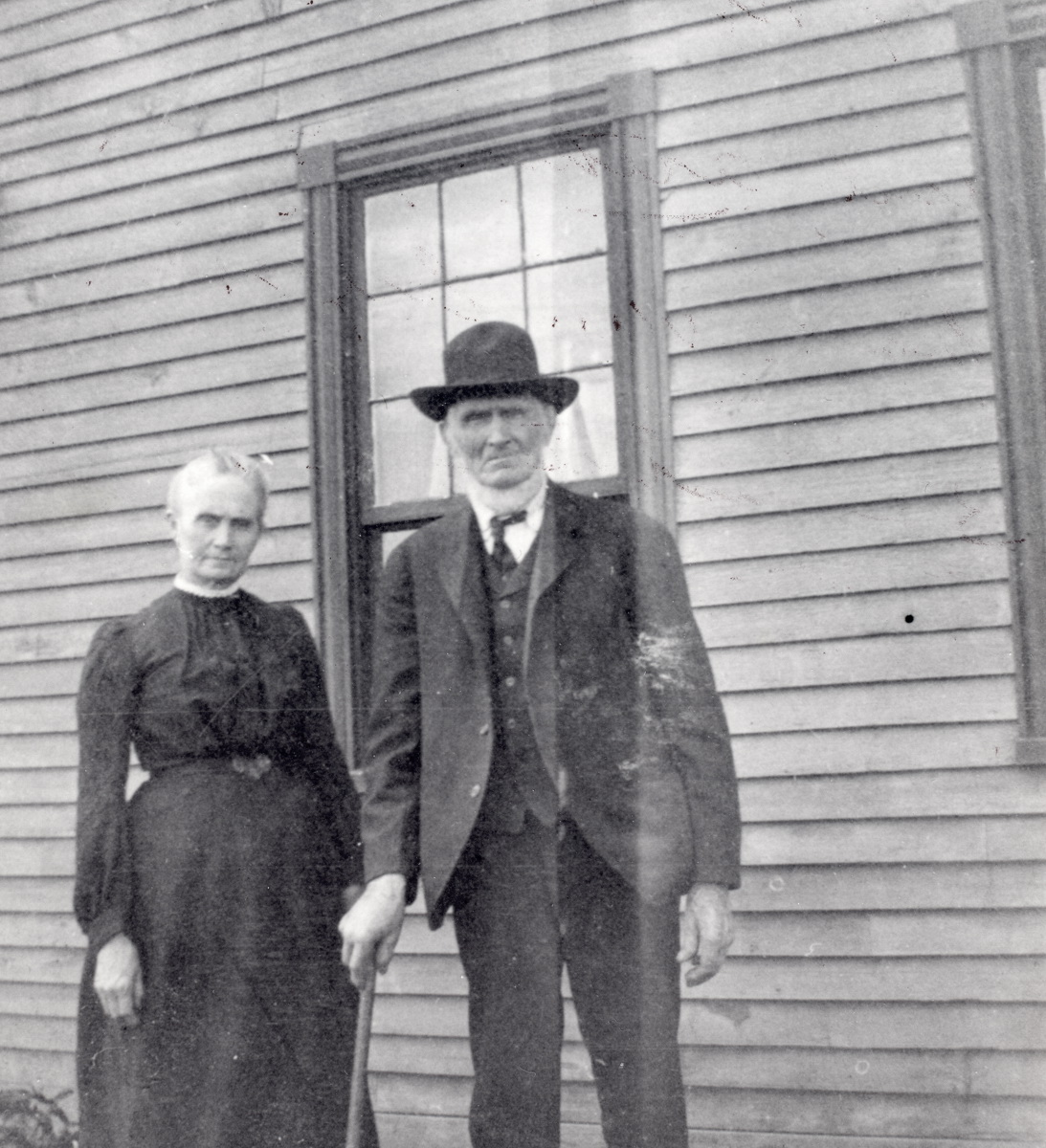 Rebecca (Whitmore) Lurvey Carroll, Mrs. Jacob William Carroll, and her father, Isaac Stanley Whitmore