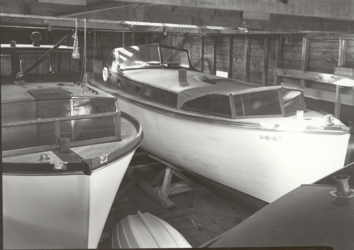 The Henry R. Hinckley Company as Manset Boat Yard - Boats in Storage Shed - II