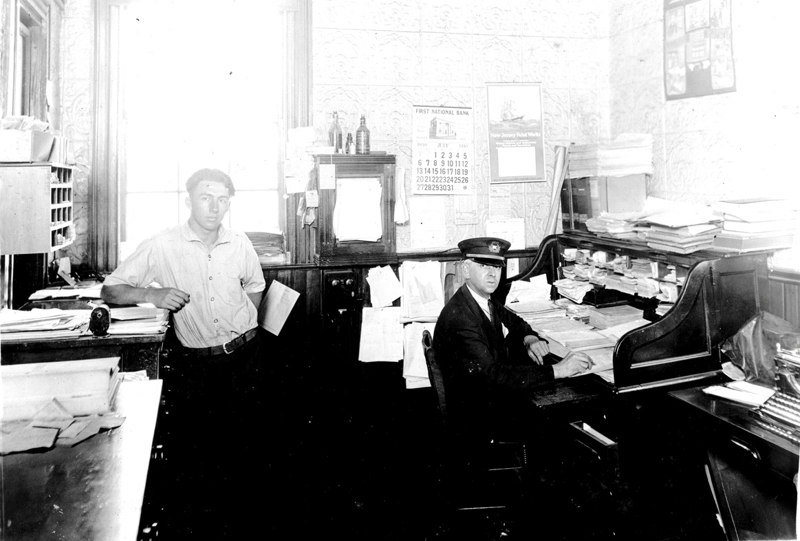 Roderick Pepper Clark and Robert Henry Dolliver in the Express & Steamboat Office at Steamboat Wharf