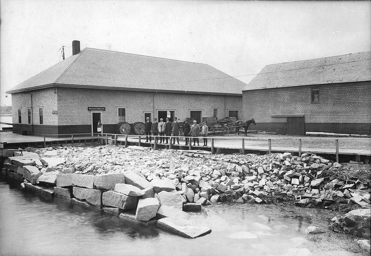 Railway Express Depot and Underwood Cannery at Steamboat Wharf