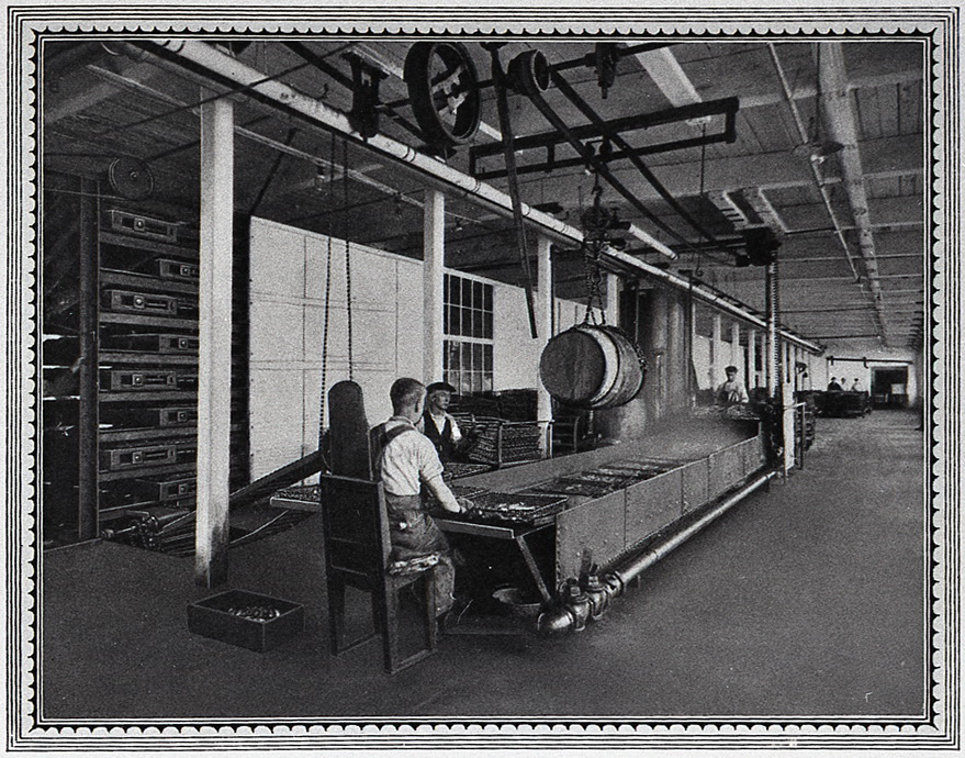 Frying Fish at the Underwood Factory, McKinley, Maine