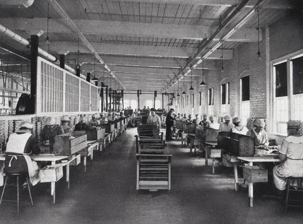 Packing Room at the Underwood Factory, McKinley, Maine