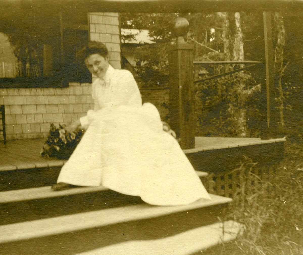 Eleanor Tyson Cope - Later Mrs. Henry Wilder Foote - Newly Engaged at Bear Island