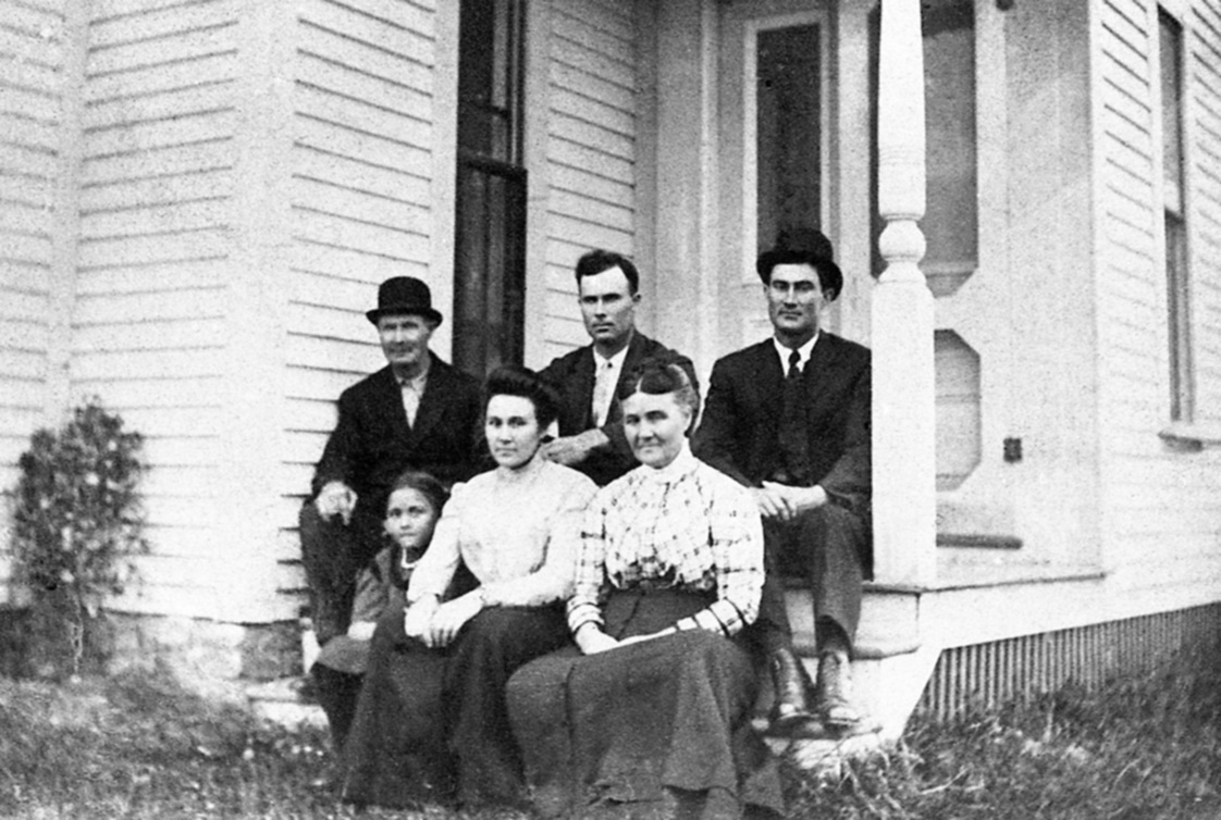 John Melbourne Rich House  III With Family on Steps - Between 1909 and 1912