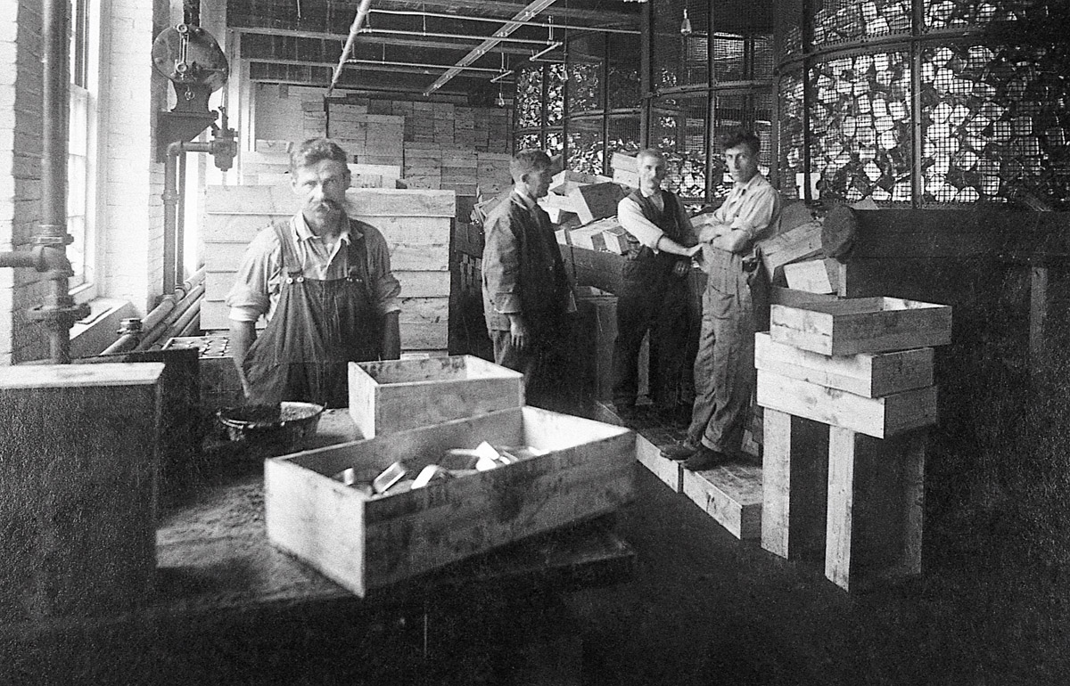 Crew in the Cartoning Room of the Underwood Factory, McKinley, Maine