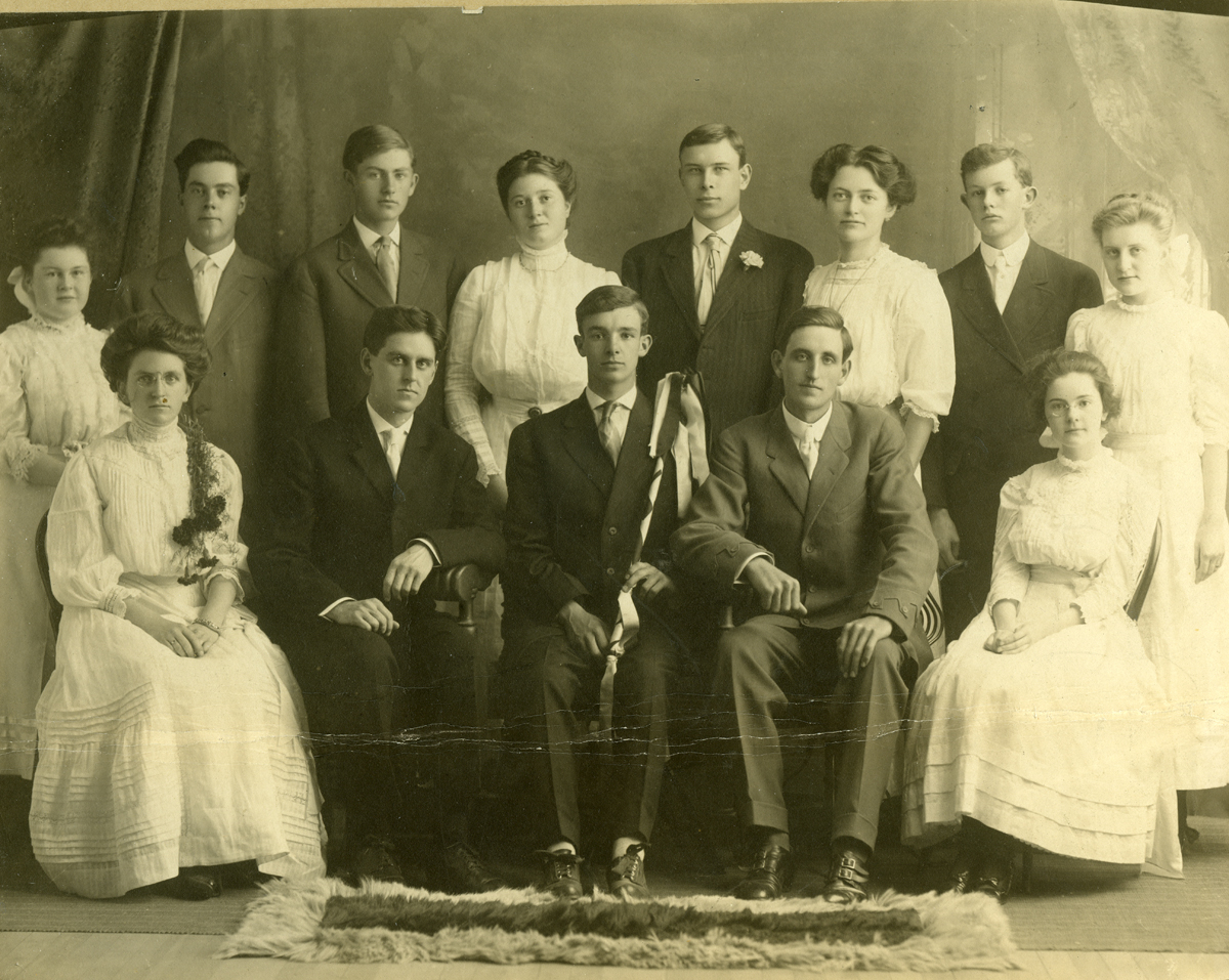 Bessie Stanley Clark and Graduation Class from The Maine Central Institute