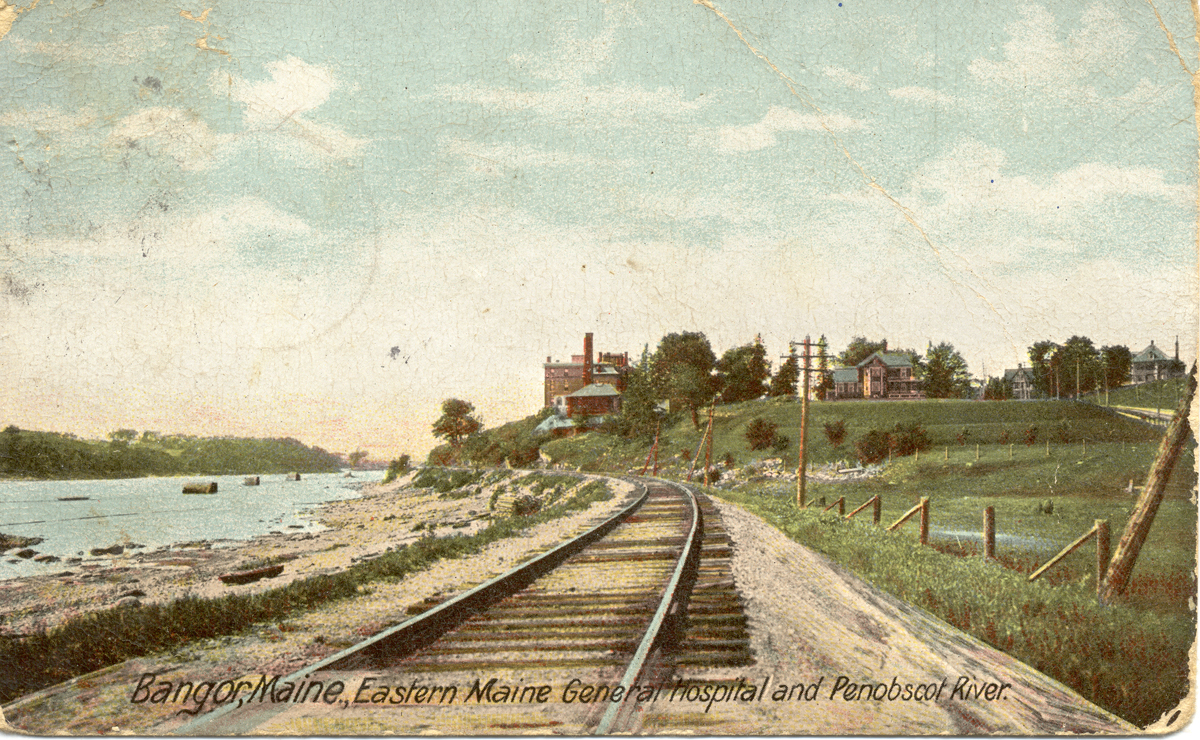Eastern Maine General Hospital and Penobscot River, Bangor, Maine