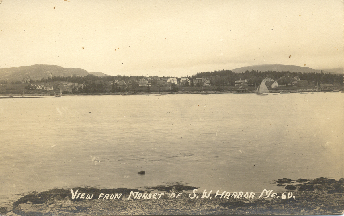 View of Southwest Harbor from Manset