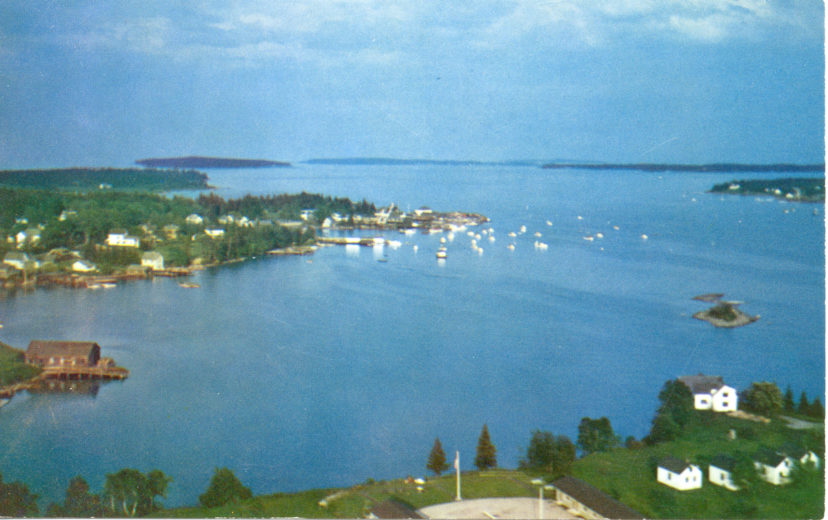 Aerial View of Clark Point, Southwest Harbor, Maine