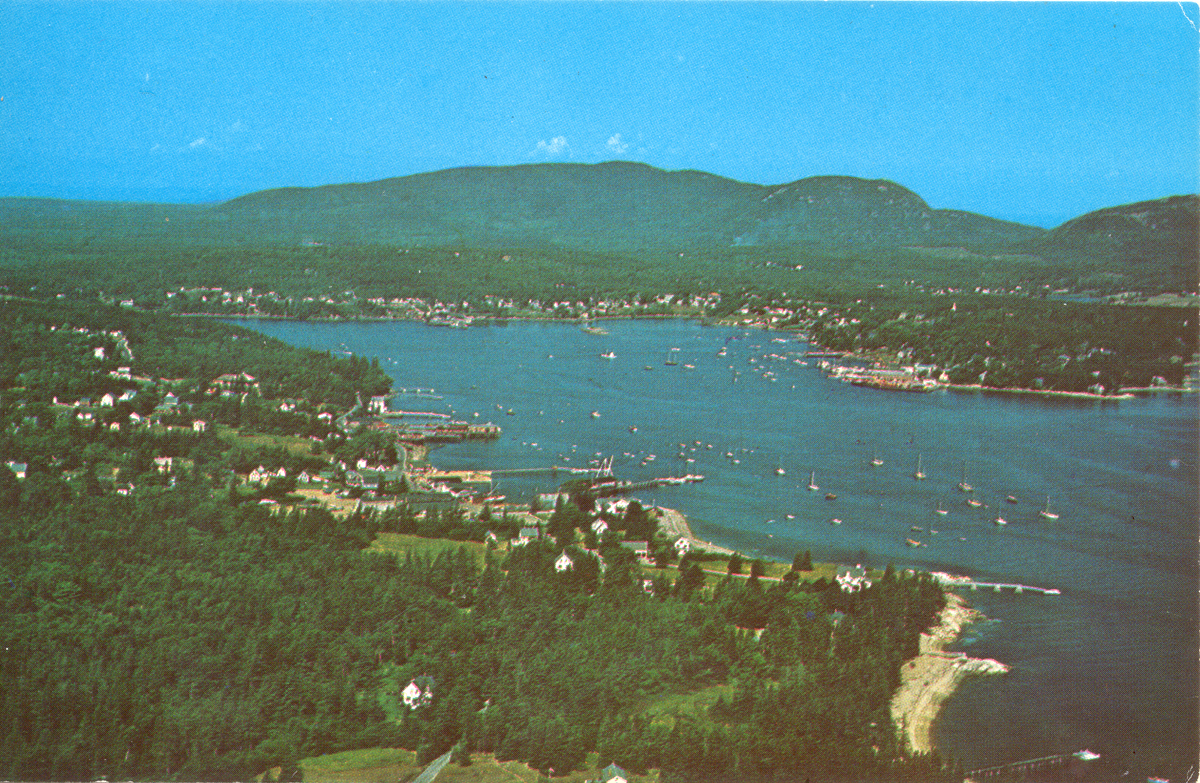 Aerial View of Manset and Southwest Harbor