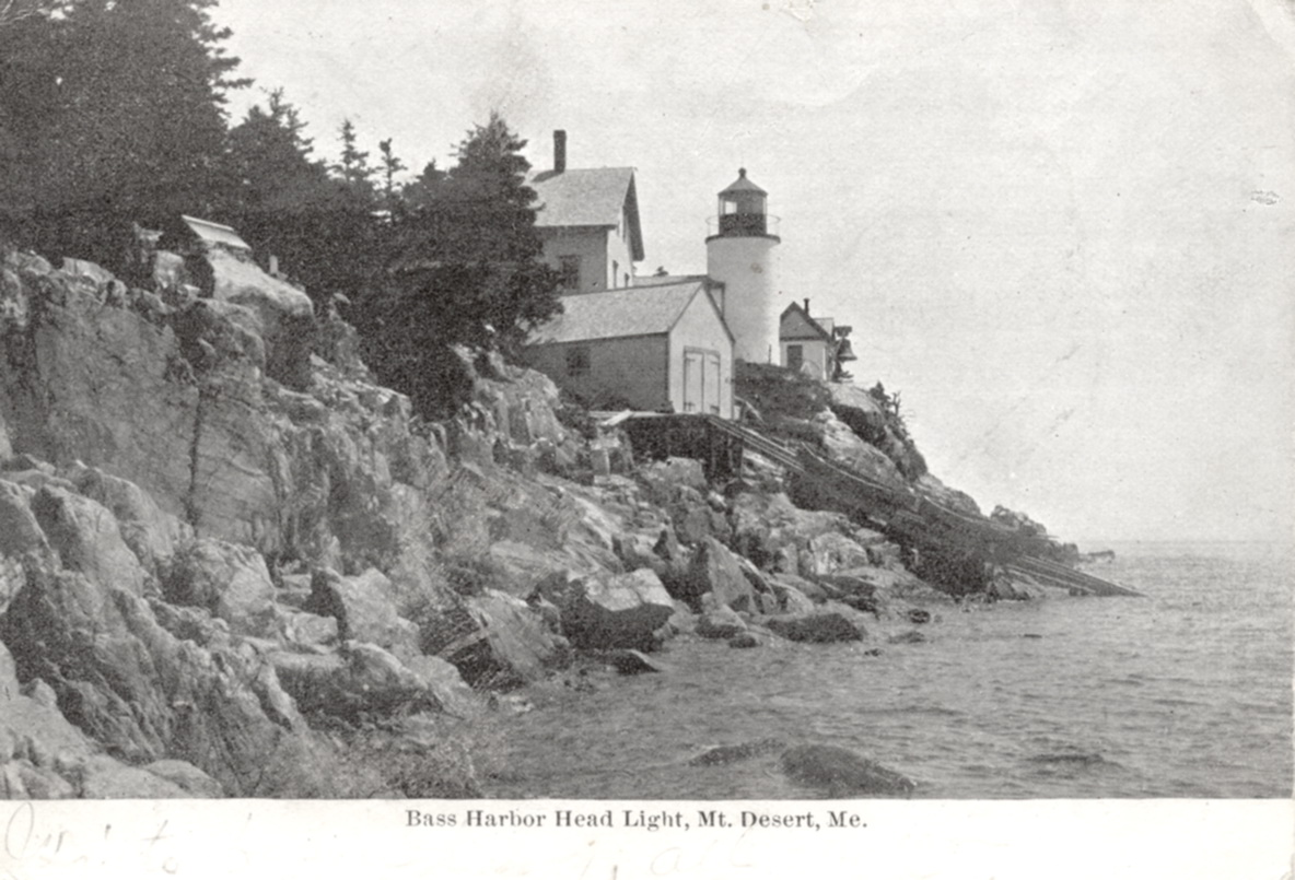 Bass Harbor Head Light with Boat House and Ways