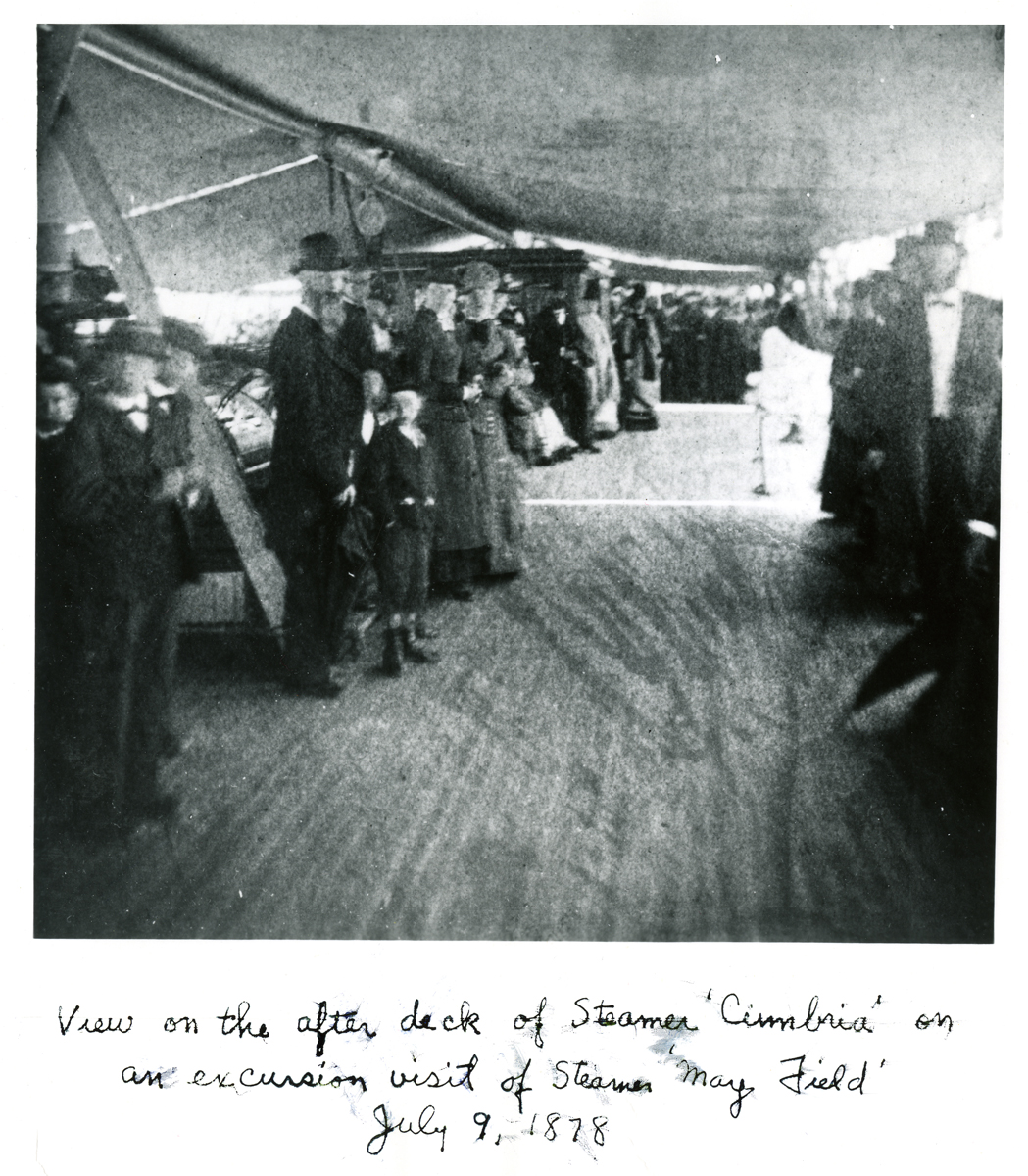 Party on the Deck of the S.S. Cimbria at Southwest Harbor, Maine - 1878