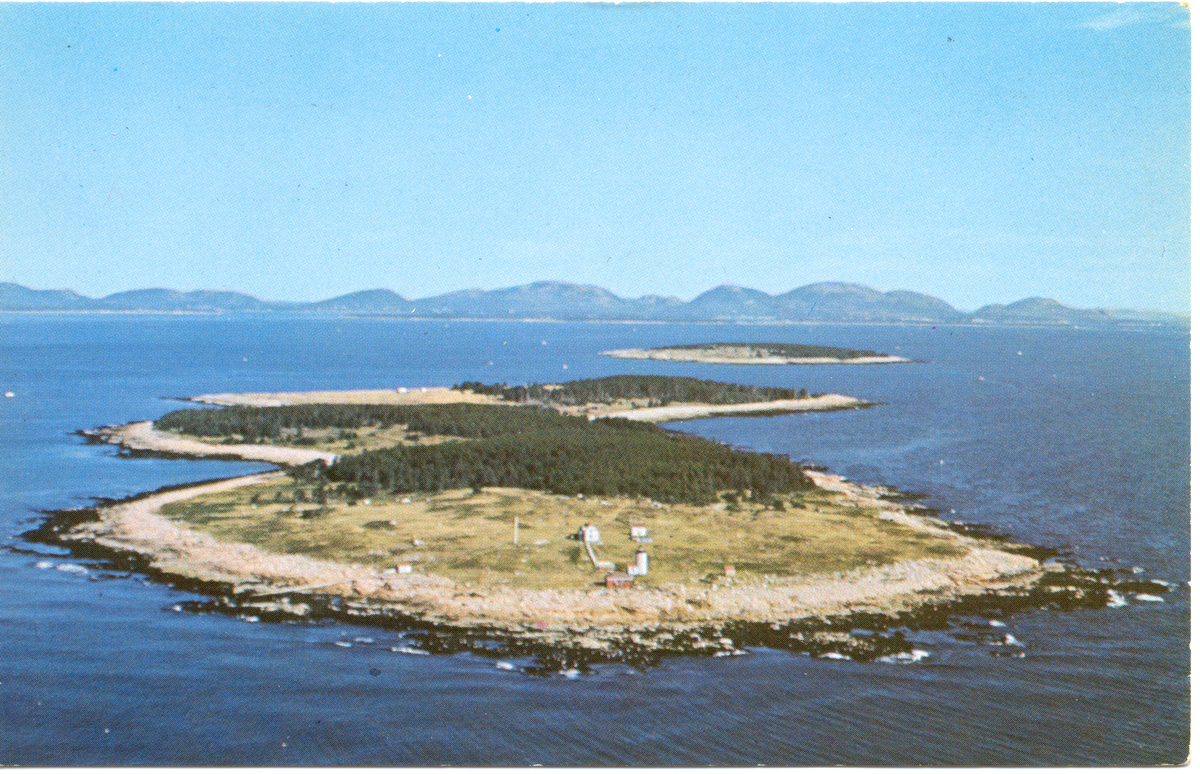 Great Duck Light Station - Great and Little Duck Islands - Aerial View