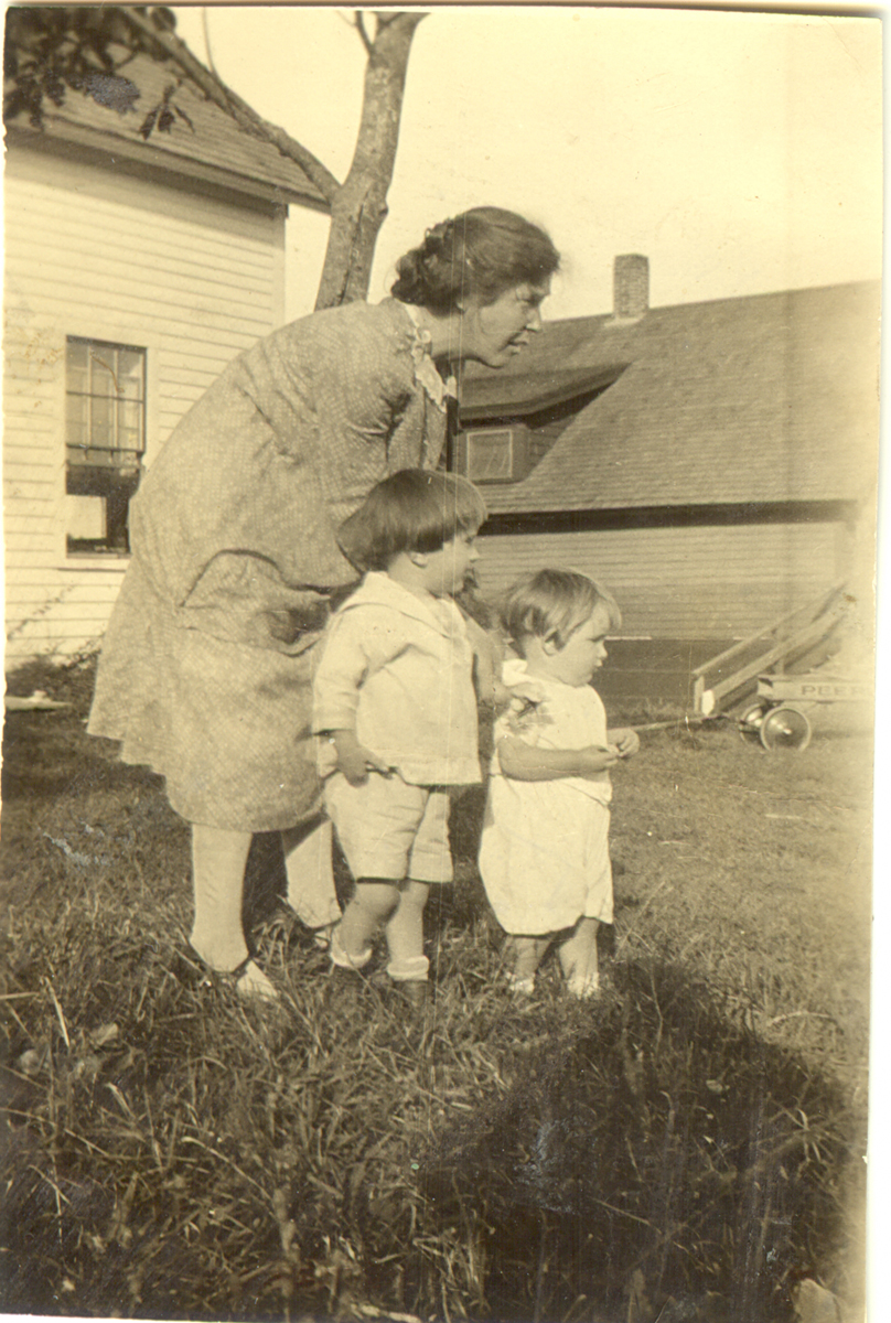 Anne (Coffey) Lawlor, Mrs. Christopher Wendell Lawlor and Two Children