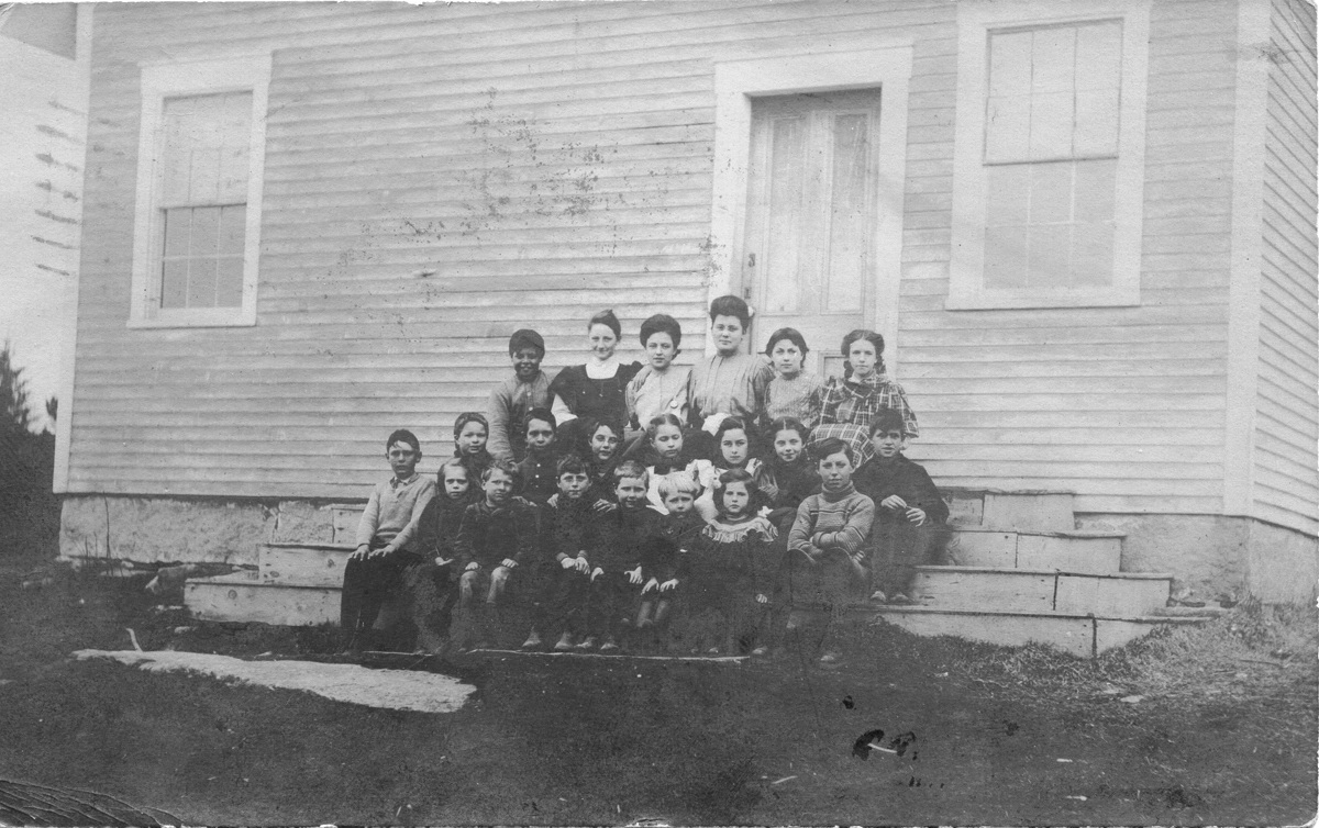 Teacher, Students Including Three Carroll Children at the Norwood Cove School