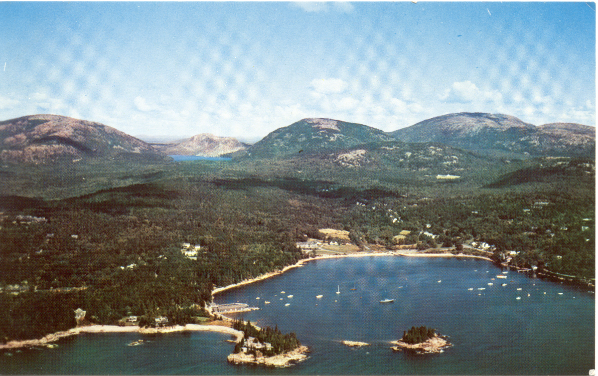 Aerial View of Seal Harbor, Maine