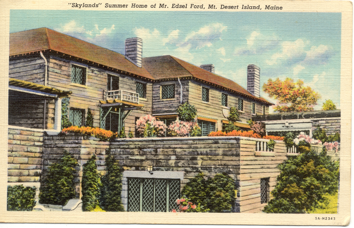 Edsel Ford Cottage, Skylands, Seal Harbor, Maine