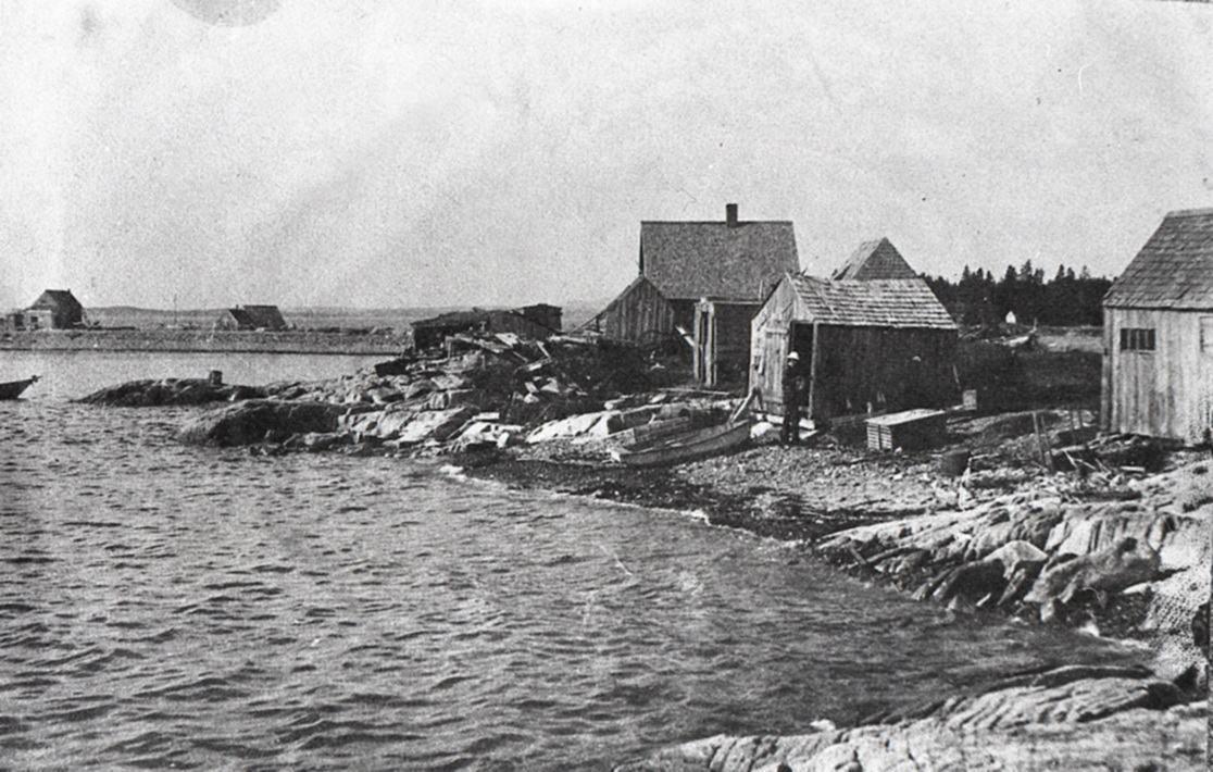 Montelle D. Gott's Buildings at the Outer Pool on Great Gott Island