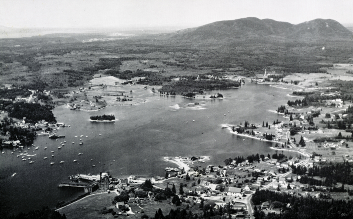 Aerial View of Bass Harbor