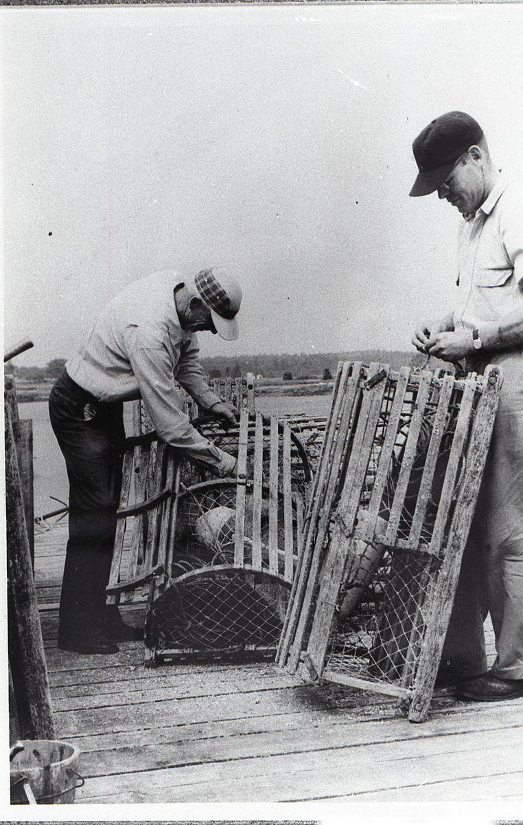 Richard Black and Wilder Dolliver With Lobster Traps