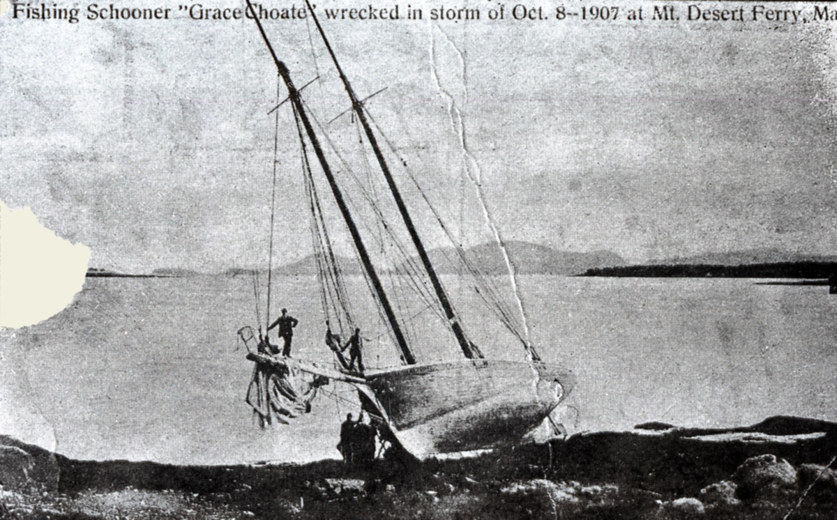Wreck of the Grace Choate at Mount Desert Ferry