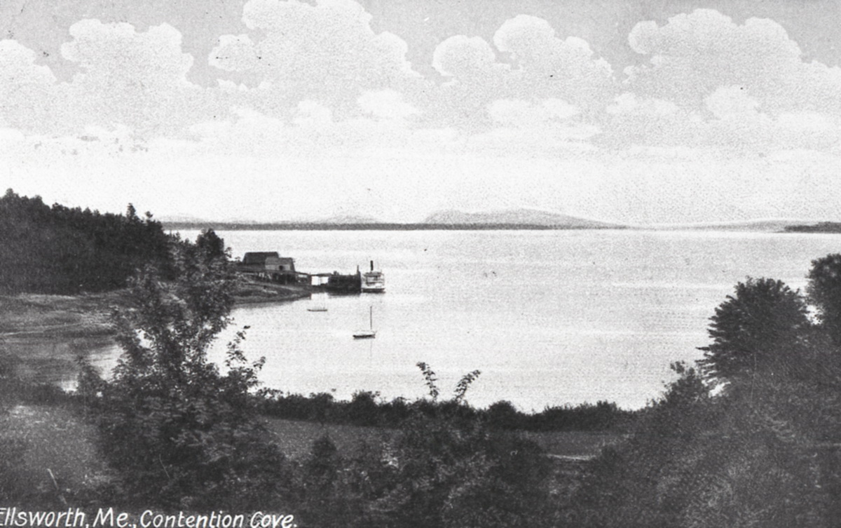 Contention Cove on the Union River Bay